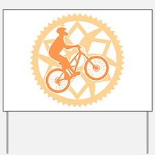 Biker chainring Yard Sign
