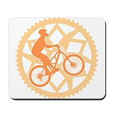 Biker chainring Mousepad