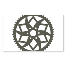 Bike chainring Decal