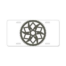 Bike chainring Aluminum License Plate