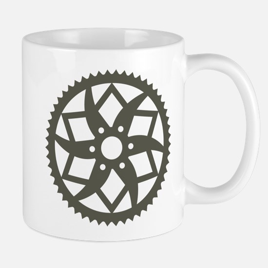Bike chainring Mug