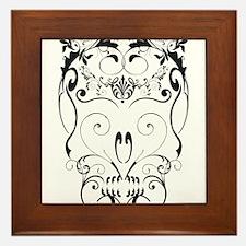 Floral ornaments skull Framed Tile