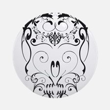 Floral ornaments skull Ornament (Round)