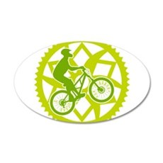 Biker chainring Wall Decal