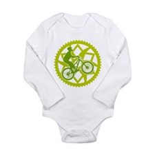 Biker chainring Long Sleeve Infant Bodysuit