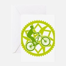 Biker chainring Greeting Card