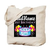 21st birthday Canvas Totes