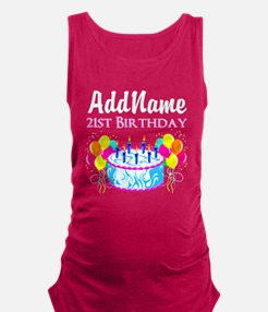 21 YR OLD PARTY Maternity Tank Top