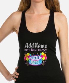 21 YR OLD PARTY Racerback Tank Top