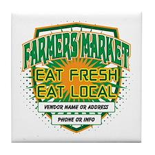 Personalized Farmers Market Tile Coaster
