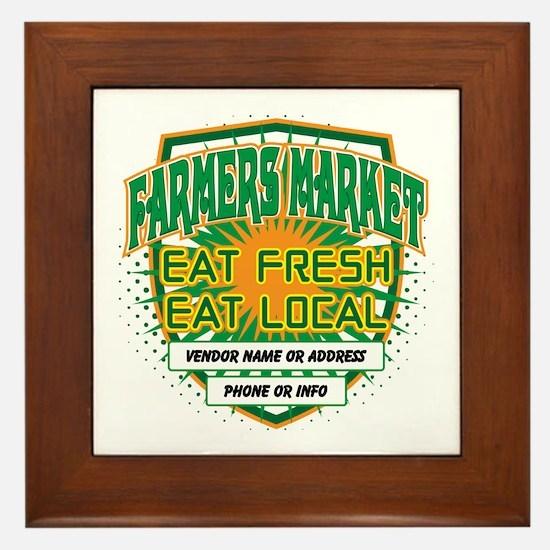 Personalized Farmers Market Framed Tile
