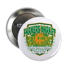"Personalized Farmers Market 2.25"" Button (100 pack"