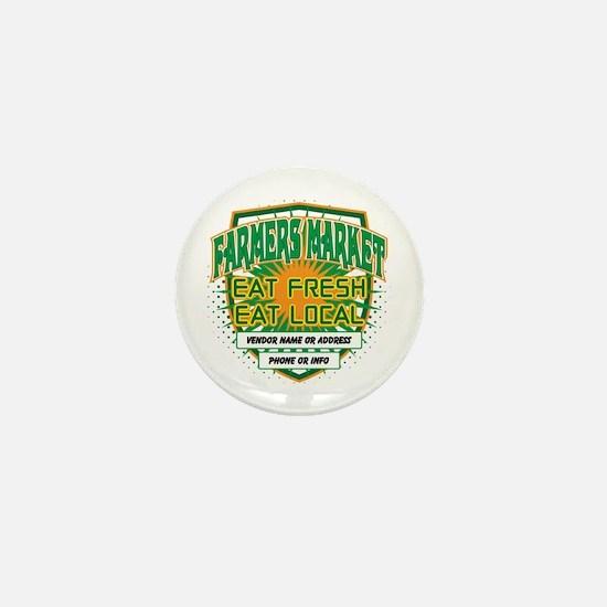 Personalized Farmers Market Mini Button