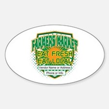 Personalized Farmers Market Sticker (Oval)