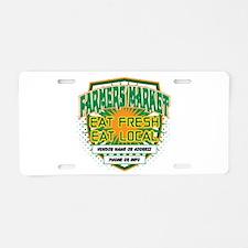 Personalized Farmers Market Aluminum License Plate