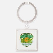 Personalized Farmers Market Square Keychain