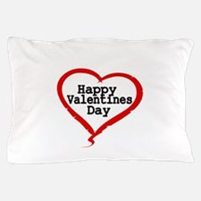Happy Valentines Day with Large Heart Pillow Case