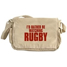 I'd Rather Be Watching Rugby Canvas Messenger Bag