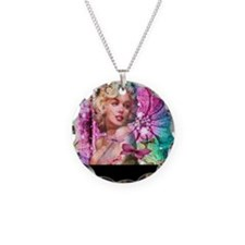 The look of Love Necklace Circle Charm