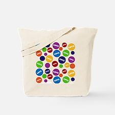 Colorful Love Polka Dots Tote Bag