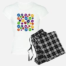 Colorful Love Polka Dots pajamas