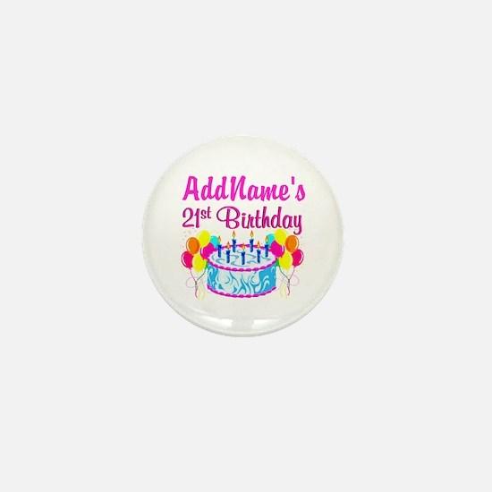 FABULOUS 21ST Mini Button