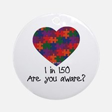 Autism Awareness Month Heart Ornament (Round)