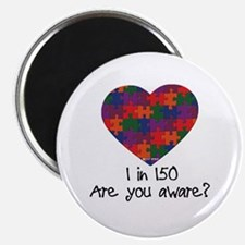 Autism Awareness Month Heart Magnet