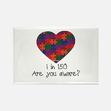 Autism Awareness Month Heart Rec Magnet (10 pk)