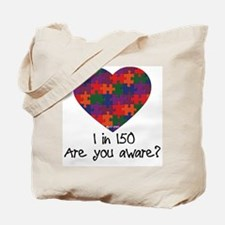 Autism Awareness Month Heart Tote Bag