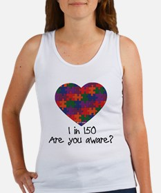 Autism Awareness Month Heart Women's Tank Top
