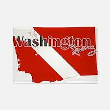 Washington Diver Rectangle Magnet