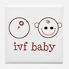 IVF baby face & dish Tile Coaster