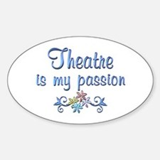 Theatre Passion Sticker (Oval)