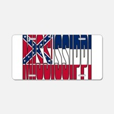 Mississippi Flag Aluminum License Plate