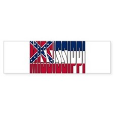 Mississippi Flag Bumper Bumper Sticker