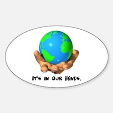 Earth In Our Hands Oval Decal