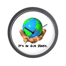 Earth In Our Hands Wall Clock