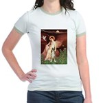 Seated Angel & Boxer Jr. Ringer T-Shirt
