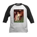 Seated Angel & Boxer Kids Baseball Jersey