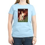 Seated Angel & Boxer Women's Light T-Shirt