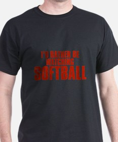 I'd Rather Be Watching Softball T-Shirt