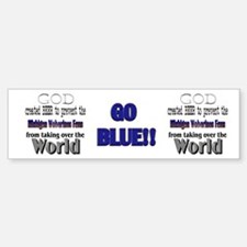 Wolverines Fans and Beer Bumper Bumper Sticker