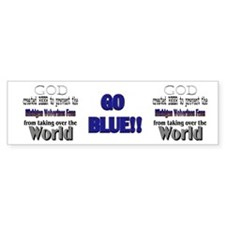 Wolverines Fans and Beer Bumper Sticker