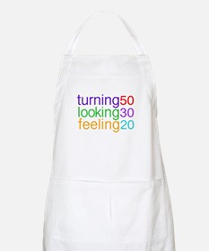 Turning 50 Looking 30 BBQ Apron