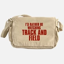 I'd Rather Be Watching Track and Field Canvas Mess