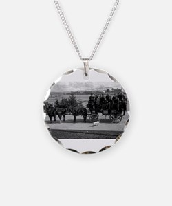 Men riding in a Tally-ho Necklace