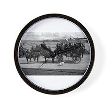 Men riding in a Tally-ho Wall Clock
