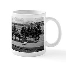 Men riding in a Tally-ho Mugs