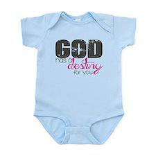 God has a destiny pink - Female Body Suit